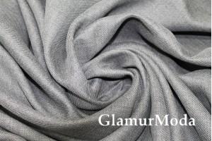 Костюмная ткань хлопок с шерстью, серого цвета, арт. 7224, Италия