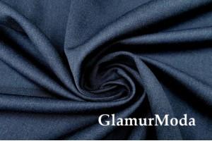 Костюмная шерстяная ткань темно-синего цвета, арт. 7711/2, Италия