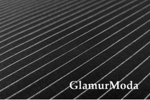 Костюмная ткань Полоска черный цвет, арт. 7740, Италия