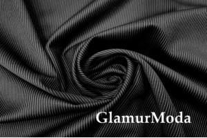 Костюмная ткань Полоска черный цвет, арт. 7738, Италия