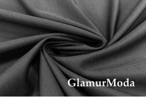 Ткань костюмная с шерстью, темно-серая, арт.7022, Италия