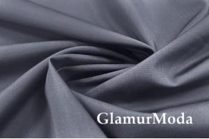 Рубашечный хлопок цвета Мокрый асфальт, арт. 8420/1, Италия