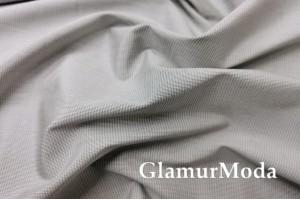 Рубашечный хлопок Гусиная лапка светло-серого цвета 5700/2, Италия