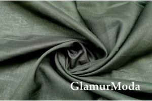 Рубашечная ткань 100% хлопок, цвет Хаки, Италия