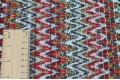 Вязаный трикотаж разноцветные зигзаги, арт. 6596/1, Италия