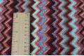 Вязаный трикотаж разноцветные зигзаги, арт. 7646, Италия