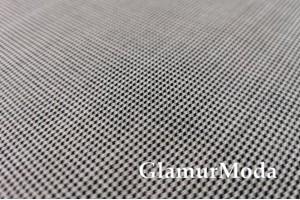Костюмная ткань Гусиная лапка мелкая черно-белая 718С191