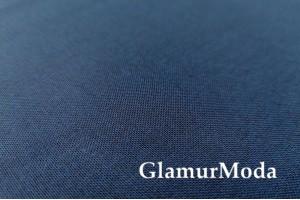 Костюмная ткань с вискозой темно-синего цвета 20С176С