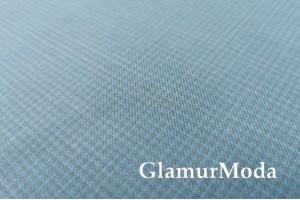 Костюмная ткань Гусиная лапка, голубой цвет 19С83САР
