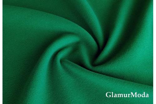 Кашемир пальтовый изумрудно-зеленого цвета
