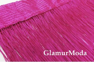 Нитяные шторы Кисея, розовый цвет