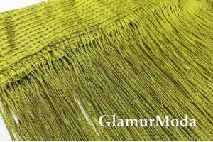 Нитяные шторы Кисея, травяной цвет