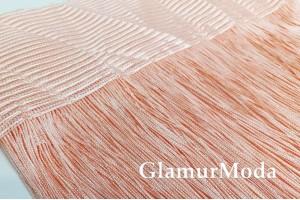 Нитяные шторы Кисея, персиковый цвет