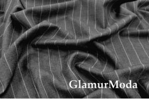 Костюмная ткань Широкая полоска серого цвета, арт. 204-18
