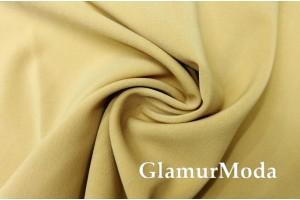 Костюмная ткань Анжелика светло-золотого цвета
