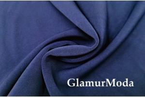 Костюмная ткань Анжелика тёмно-синего цвета