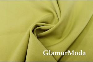 Костюмная ткань Анжелика оливкового цвета