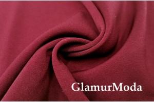 Костюмная ткань Анжелика бордового цвета