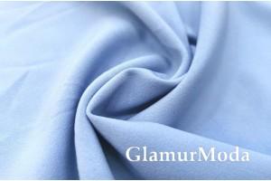 Костюмная ткань Анжелика голубого цвета