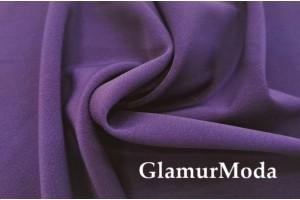 Костюмная ткань Анжелика фиолетового цвета
