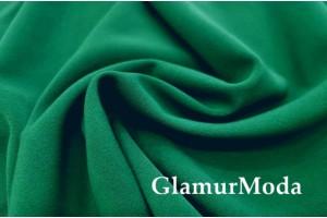 Костюмная ткань Анжелика зелёного цвета №258
