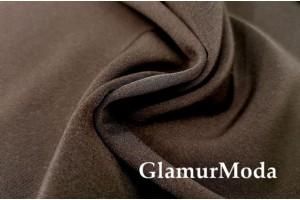 Костюмная ткань Анжелика коричневого цвета