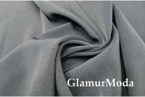 Костюмная ткань Анжелика серого цвета