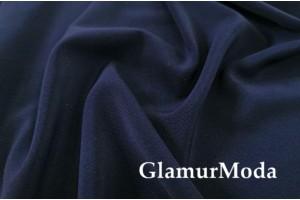 Костюмная ткань Анжелика глубокого тёмно-синего цвета