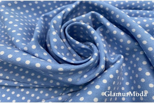Бенгалин белые горохи на голубом фоне