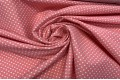 Бенгалин белые горохи на пыльно-розовом фоне