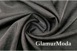 Костюмная итальянская ткань с мелким начёсом, черного цвета, арт. 7967/2, Италия