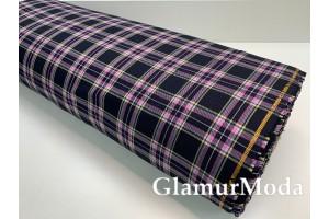 Ткань костюмная клетка фиолетовая, арт. 3196-4, Турция