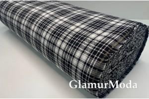 Ткань костюмная клетка черно-белая, арт. 6003-00, Турция