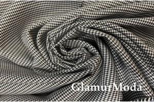 Костюмная Тиар гусиная лапка черно-белого цвета