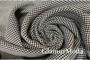 Костюмная Тиар гусиная лапка черно-белого цвета плотная