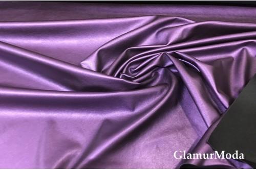 Искусственная кожа (эко кожа) фиолетового цвета, глянец