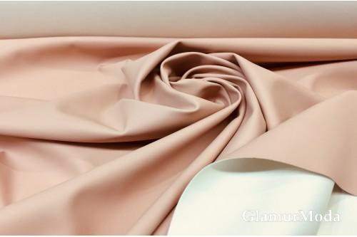 Искусственная кожа (экокожа) пудрового цвета, матовая