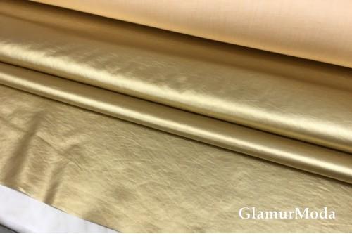 Искусственная кожа (экокожа) золотого цвета