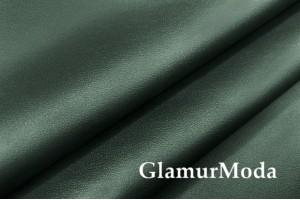 Искусственная кожа (экокожа) темно-зеленая, матовая