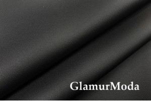 Искусственная кожа стрейч (эко кожа) черного цвета