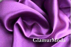 Ткань креп-сатин фиолетового цвета