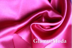 Ткань креп-сатин малинового цвета