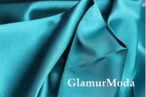 Ткань креп-сатин  цвета морской волны