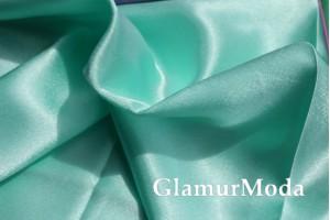 Ткань креп-сатин красивого мятного цвета