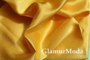 Ткань креп-сатин желтого цвета
