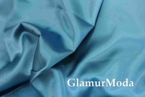 Ткань креп-сатин голубого цвета