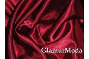 Ткань креп-сатин бордового цвета