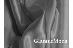 Ткань креп-сатин серебряного цвета