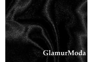 Ткань креп-сатин черного цвета