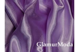 Ткань креп-сатин сиреневого цвета